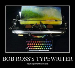 Bob Ross Typewriter Wall Watch
