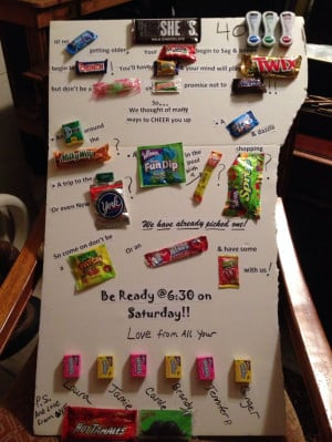 Candy Bar sayings Friends 40th
