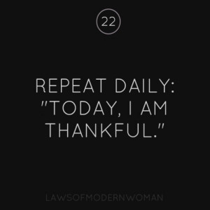 Today's Thought – Be Thankful!