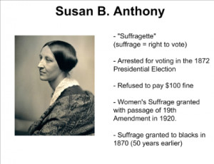 Susan B Anthony Suffrage Speech Vote - susan b. anthony's