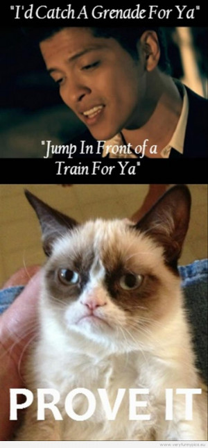Funny Picture - Bruno Mars meets Grumpy Cat