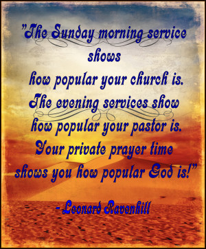 Great Quotes by Leonard Ravenhill