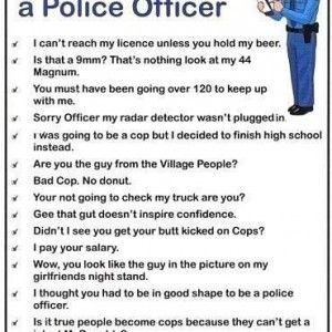 Funny Quotes about Cops