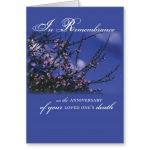 Remembrance on Anniversary of Loved One's Death Greeting Card