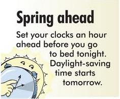 Enjoy daylight savings time funny cartoons pics