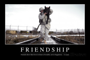 Friendship: Inspirational Quote and Motivational Poster Photographic ...