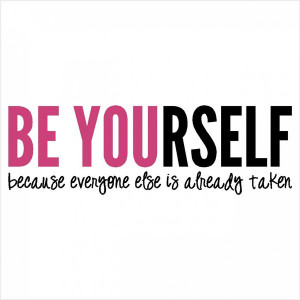 Be Yourself' - Quote Decal for Walls