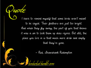 The Shawshank Redemption Quotes Bird Cage