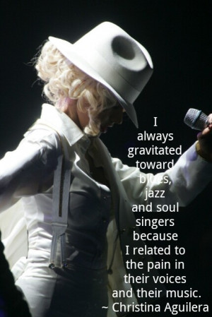 blues, jazz and soul singers....