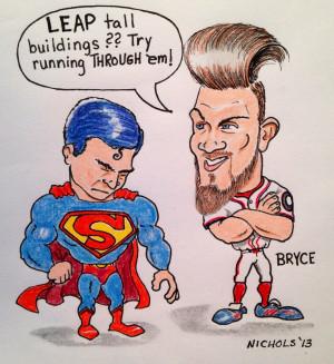 Bryce Harper Schools Superman