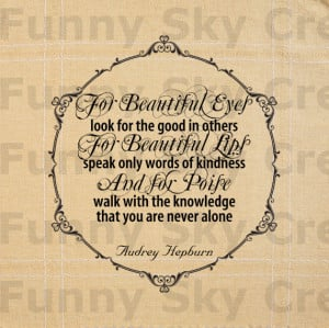 Audrey Hepburn Quotes For Beautiful Eyes