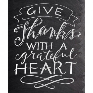 Give Thanks – Thanksgiving Chalkboard quote – hand lettering ...