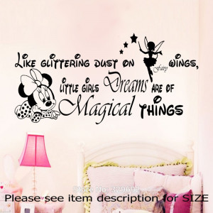 free shipping Minnie Mouse WALL ART STICKER DECAL For Kids Room ...