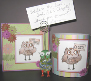 kept with the owl pal theme and created this delightful reveal card