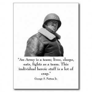 George Patton and Quote Post Card