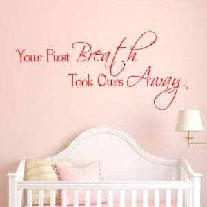home wall art stickers baby new baby quotes