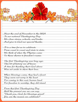 Famous Christian Thanksgiving Poems For Children 2014