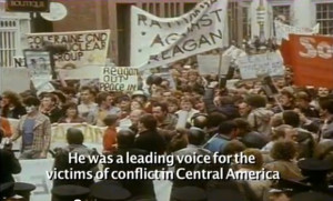 Michael D. at an anti-Reagan protest in the 1980s.