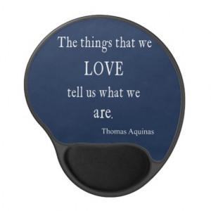 Vintage Monaco Blue Aquinas Love Quote / Quotes Gel Mouse Pad
