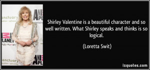 Shirley Valentine is a beautiful character and so well written. What ...