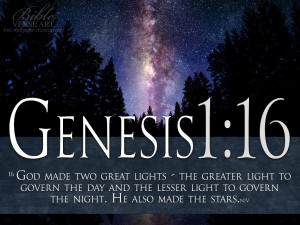 Bible Verses Genesis 1:16 GOD Created Sun And Stars HD Wallpaper