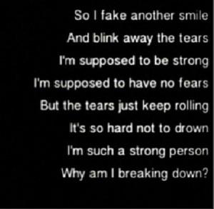 why am I breaking down