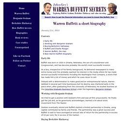 Warren Buffett Biography. Early life Buffett was born in 1930 in Omaha ...