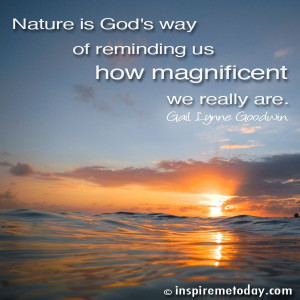 Quote nature Is Gods Way