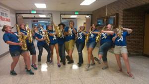 Tenor Saxophone Clip Art Marching saxophones t-shirt