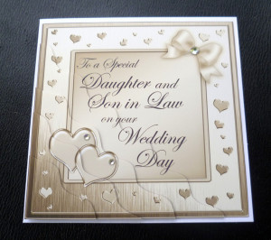Details about Daughter & Son In Law Wedding Day Card - 4 Colours