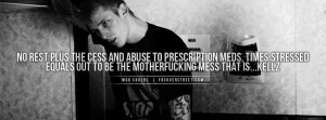 Machine Gun Kelly No Rest Quote Wallpaper
