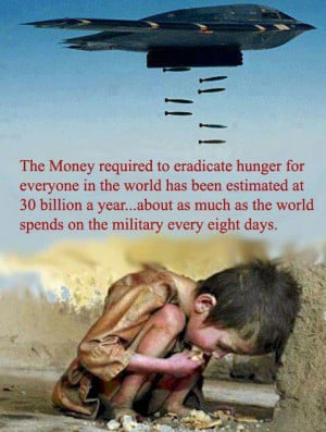 ... about as much as the world spends on the military every eight days