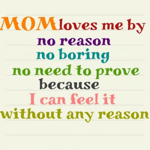 Mommy And Me Quotes Mom loves me