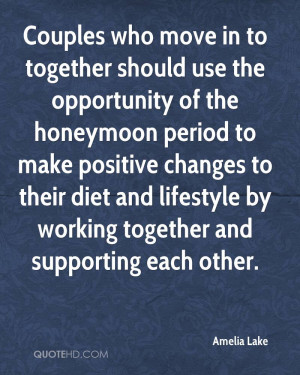 Couples who move in to together should use the opportunity of the ...