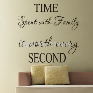 New Arrive Wall stickers Home Decor Home Decoration TIME SECOND Happy ...