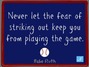 Babe Ruth Baseball Great Inspirational Quote by NicolesNook1213, $3.00 ...