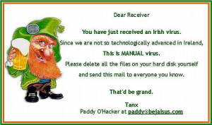 Funny Picture: Irish Computer Virus, Irish computer joke manual virus ...