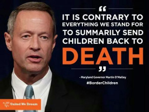 Martin O'Malley. Child migrant crisis, 2014