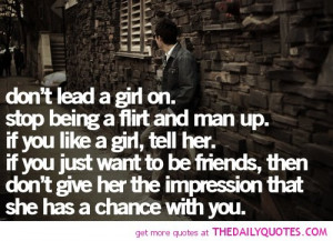 Don't Lead A Girl On