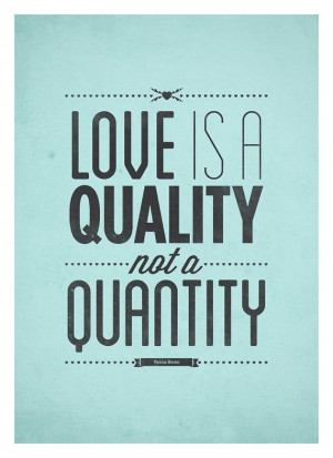 Love quote typography poster - Vintage-Style typo art print - Love is ...