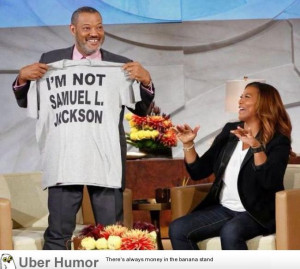 Morgan Freeman showing Oprah he's not Samuel L. Jackson.