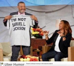 Morgan Freeman showing Oprah he's not Samuel L. Jackson.