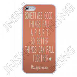 For-Bulk-Custom-Marilyn-Monroe-quote-case-cute-fall-apart-pink-for ...