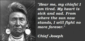 Chief joseph famous quotes 2