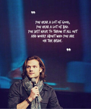 Jared Padalecki ~ and maybe this is why he is such a great guy ...