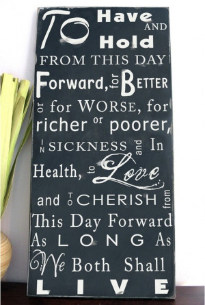 Traditional wedding vows-Wedding Gift idea by MarylinJ