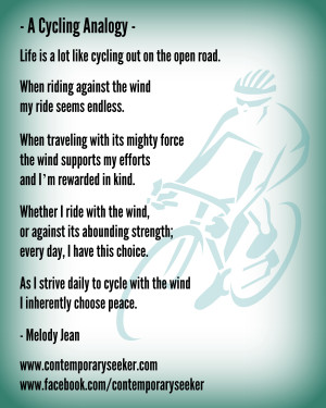 Cycling Analogy Quote Contemporary Seeker