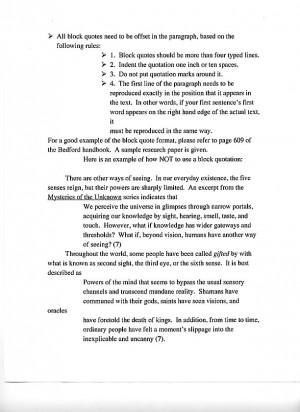 MLA Style Essay