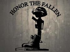 Helmet Rifle Boots Fallen Soldier Battle Memorial Wall Sticker 8.5