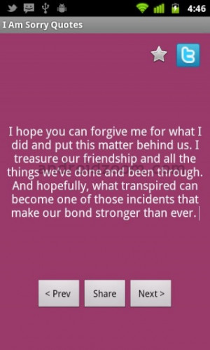 Hope You Can Forgive me For What I did And Put This Matter Behind Us ...